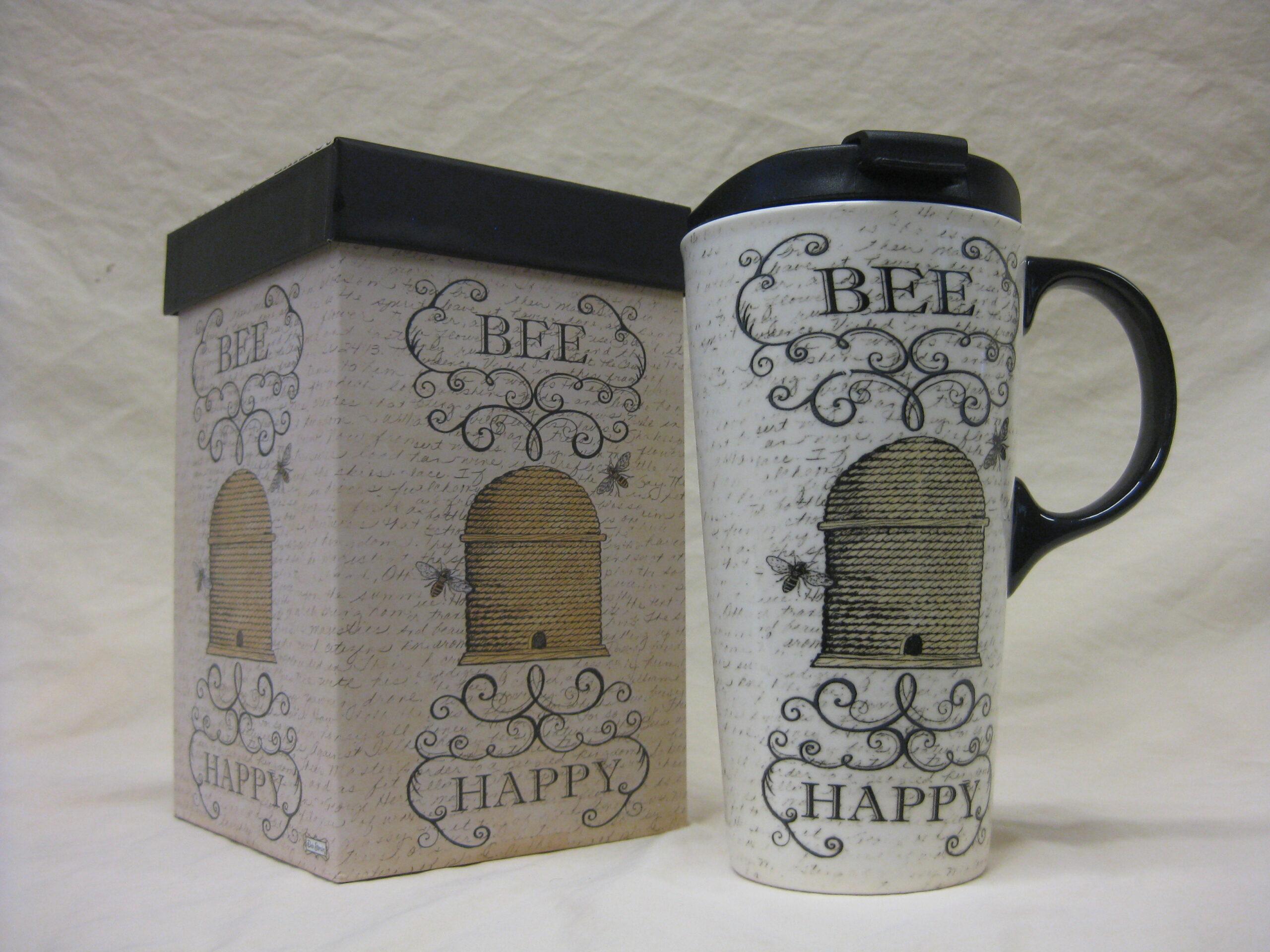 Bee Themed Travel Mug