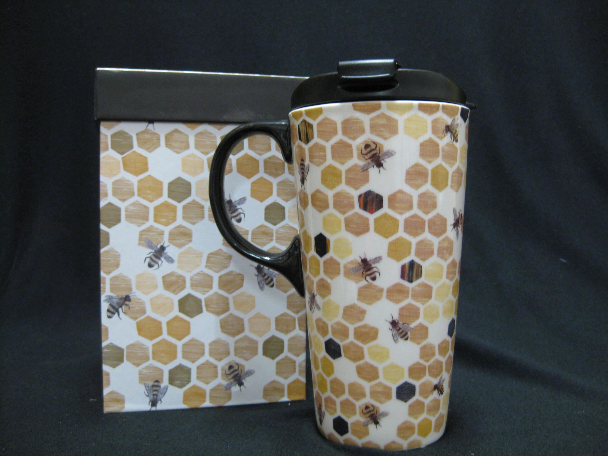 Travel Mug - Honey Comb Design