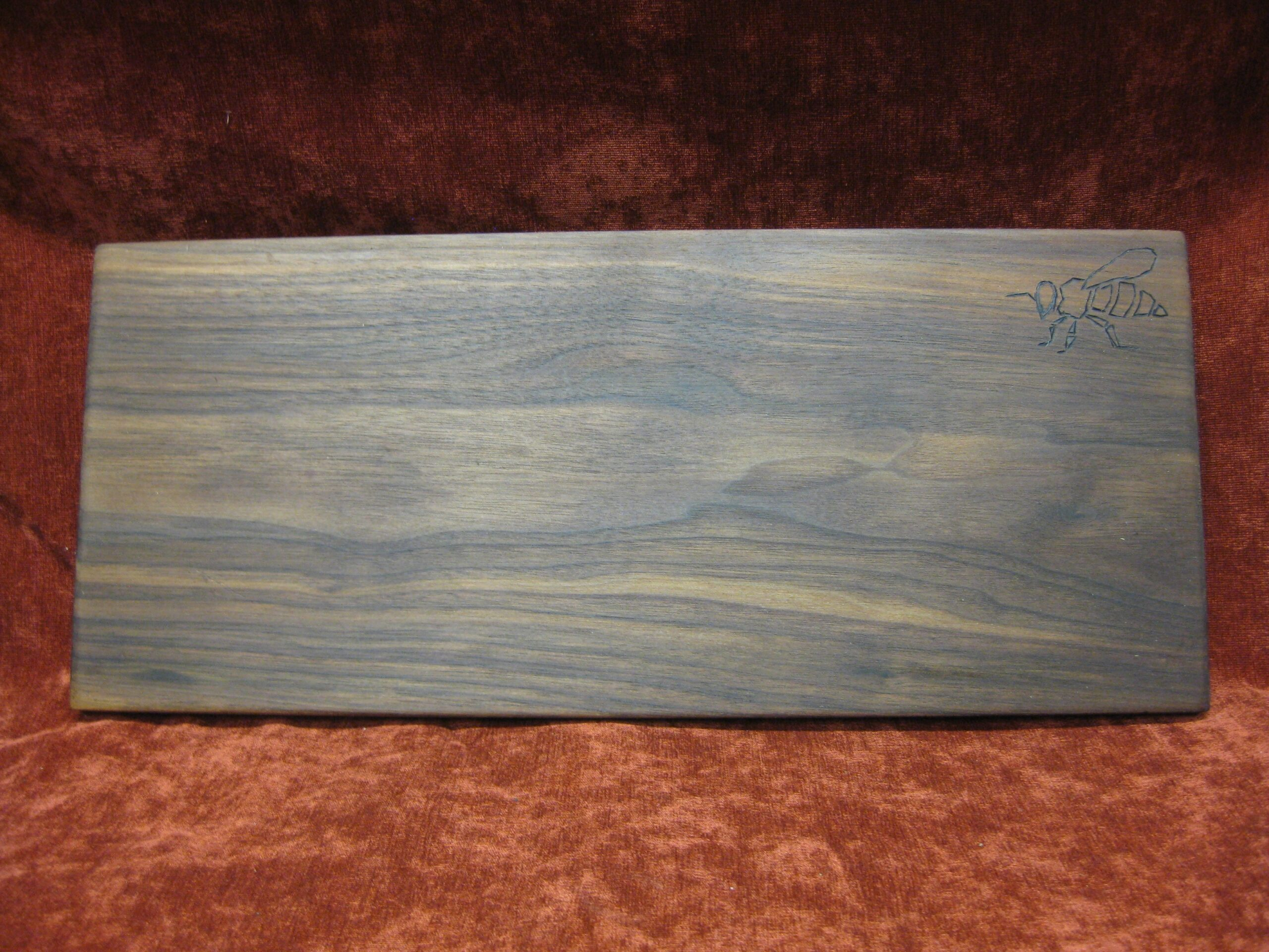 Hand Crafted Walnut Charcuterie Board with Bee Design