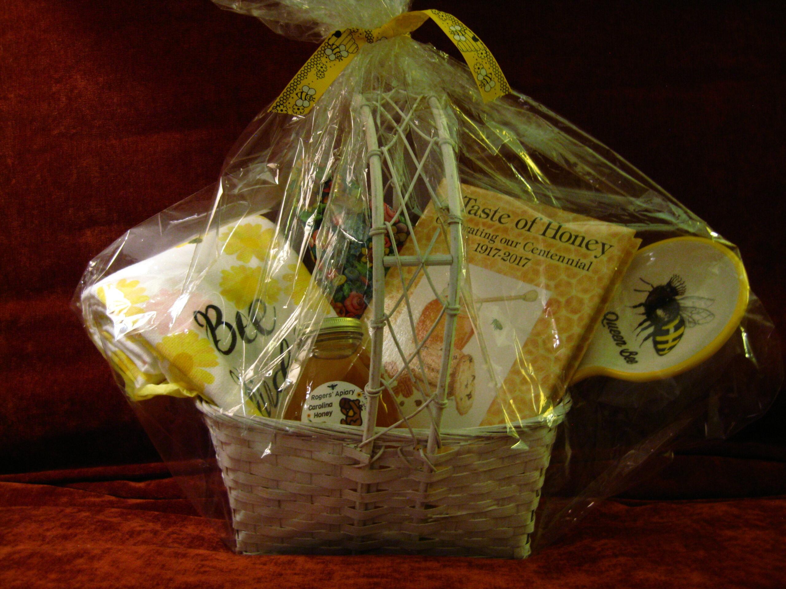 Kitchen Gift Basket with Roger's Apiary Carolina Honey